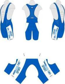Cycling pants with University Sports logo